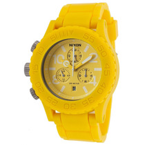 Reloj Nixon Es 42-20 Chrono Yellow Rubber And Dial - Hombre