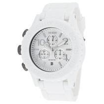 Reloj Nixon Es Rubber 42-20 Chrono White Rubber White Dial