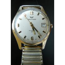 Reloj En Oro Waltham Suizo Mecanico Cuerda 17 Rubis De 1950