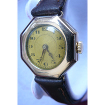 Reloj Antiguo En Oro Suizo Mecanico Cuerda 15 Rubis De 1925