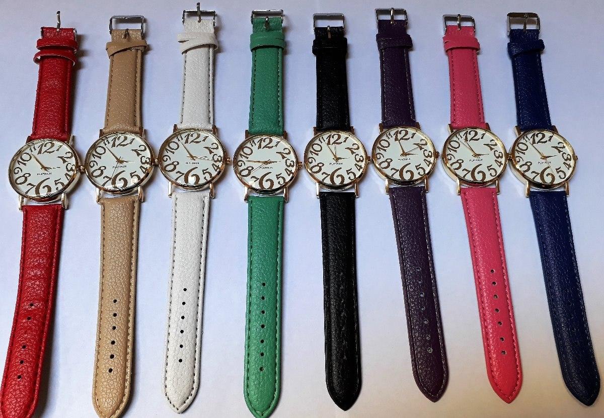 64c892eaba87 relojes pulsera eco cuero numero grande colores por 10. Cargando zoom.