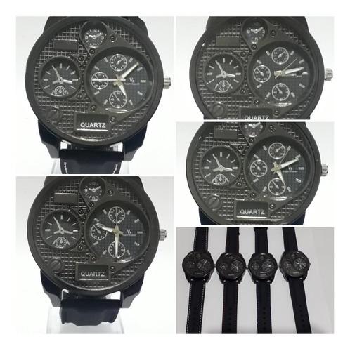 relojes pulsera hombre negro gde por mayor x 10 unidades