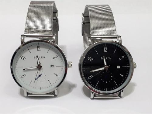 relojes pulsera metalico hombre por mayor por 10 unidades