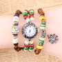 Reloj Hecho A Manos Con Madera De Hermosos Colores Y Diseños