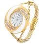 Reloj Pulsera De Cuarzo Analógico C Con Diamantes De Imitaci