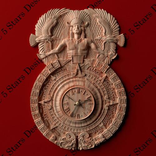 relojes tallados en madera -bajo pedido