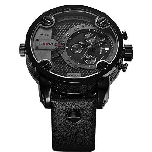 relojes weide reloj de pulsera de cuero de marca de lu w69