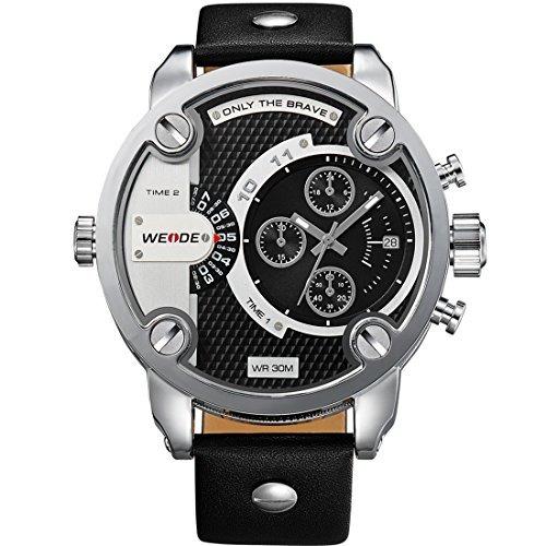 relojes weide reloj de pulsera de cuero de marca de lu w70