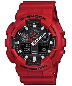 Relojes Ga100b 4a Casio Rojo Shock G reloj OPiukXZTw