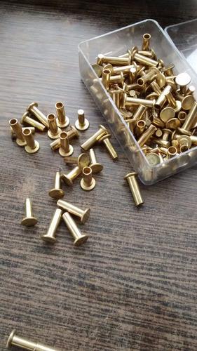 remaches de bronce para encabar, cabos, macho-hembra!!!