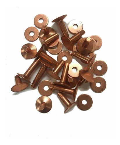 remaches de cobre y rebabas, 5/8  tamaño, n ° 9, cuarto de
