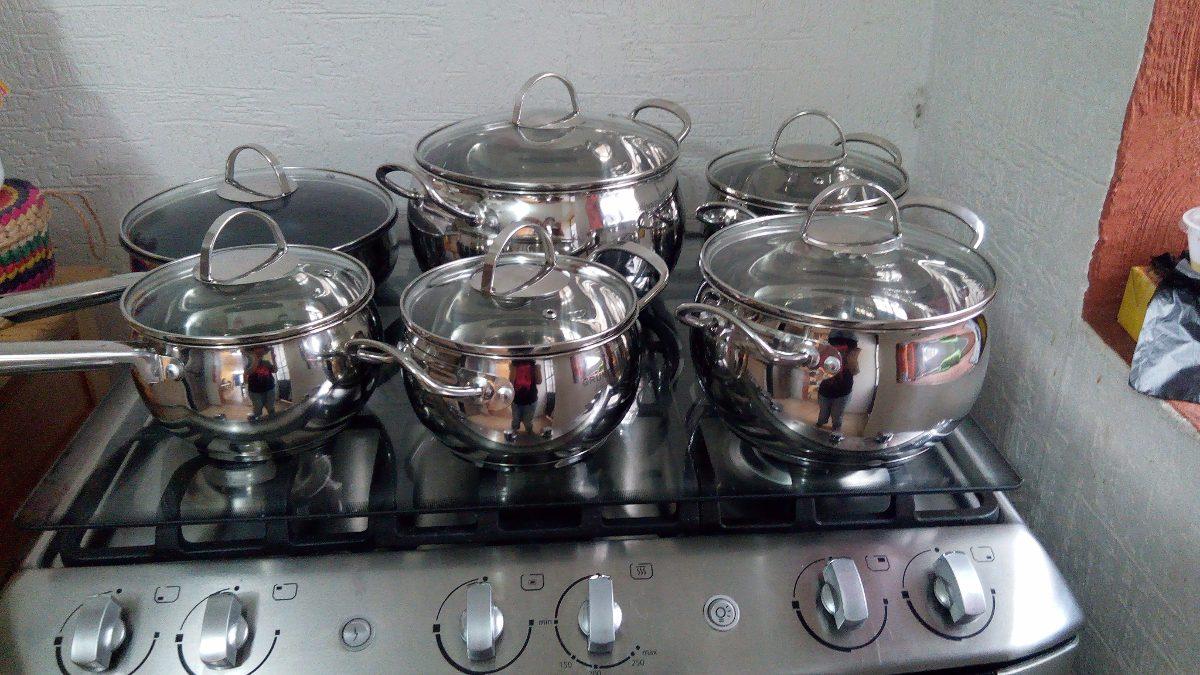 Remate baterias de cocina acero inoxidable 12piezas - Remates de cocinas ...