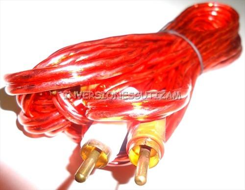 remate cable rca audio 5mt punta rojo blanco oferta h0104