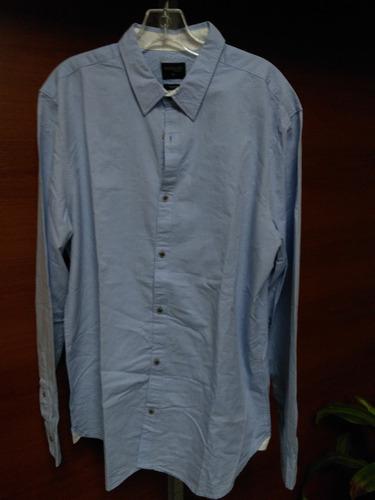 remate camisa  marquis azul o celeste llana xl 100%algodon