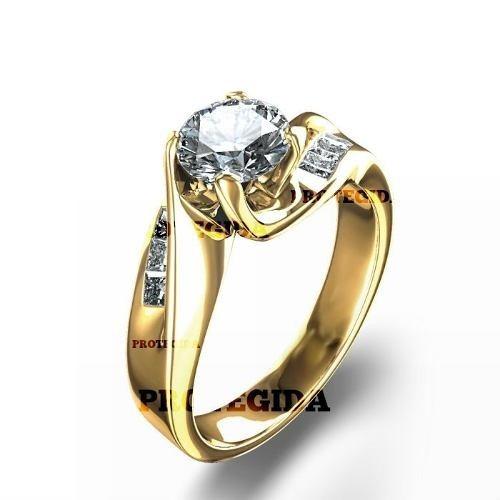 remate de anillo de compromiso oro blanco 10kt