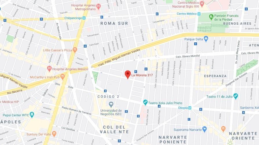 remate depto col del valle nte benito juarez $3,680,000