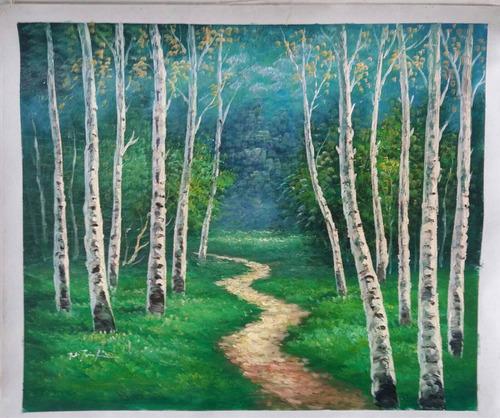 remate final de pintura francesa al óleo sobre tela