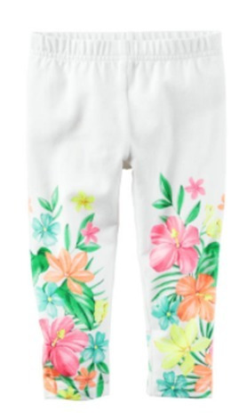 remate legging niña carter´s talla 4t licrado estampado flor