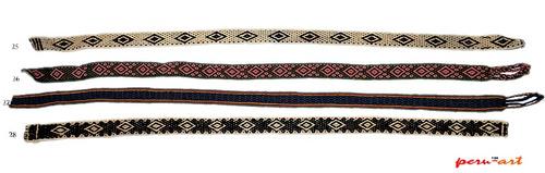 remate lote de cinturones y correas bordadas