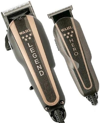 remate máquina wahl barber combo legend y trimmer hero 19pz