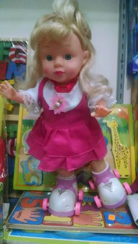 remate muñeca patinadora musical