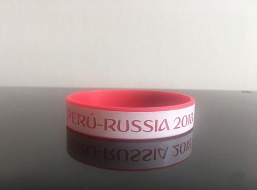 remate pulsera silicona  mundial peru rusia 2018 por mayor