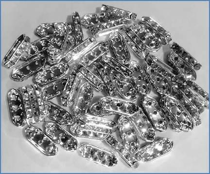 4e916a38a6ca Remate Rondel Metálico C  Cristal Aaa Para Joyería Bisutería ...