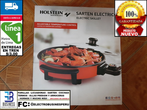 remate: sarten electrico holstein electric skillet producto