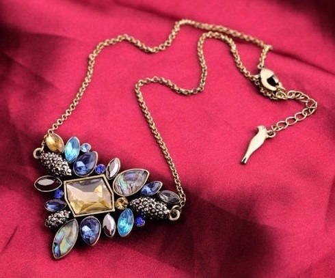 remate set collar  aretes joyería cristal bisutería regalo