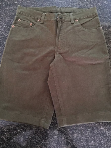 remate! short lois talla 28 color verde