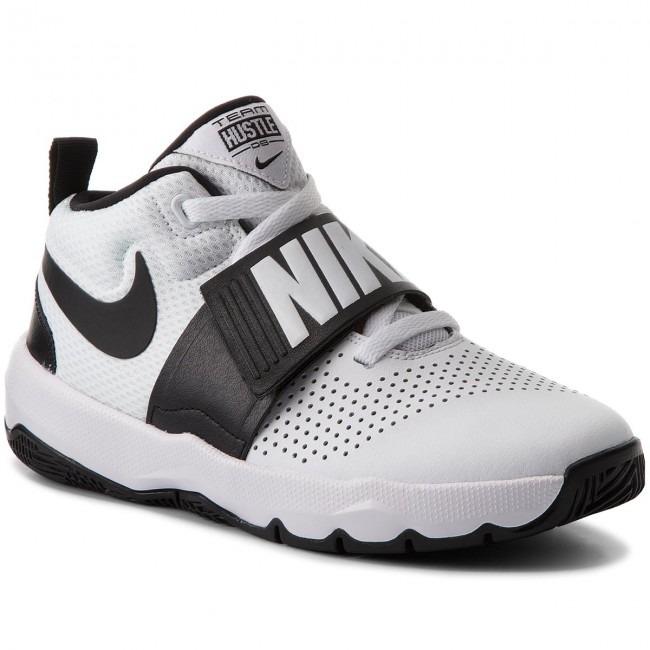 959f17e8 Remate Tenis Nike Team Hustle D 8 Blanco Negro Niño Original ...