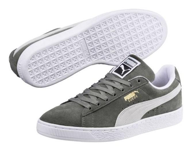 taille 40 1dec1 896c5 Remate Tenis Puma Suede Classic Gris Gamuza Original