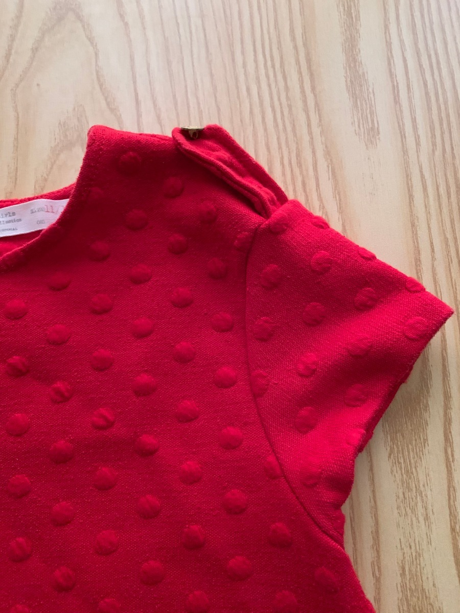 5c9bcb480 Zoom Zara Niña Rojo Original Corto Remate Vestido Para Cargando qpaBF7O