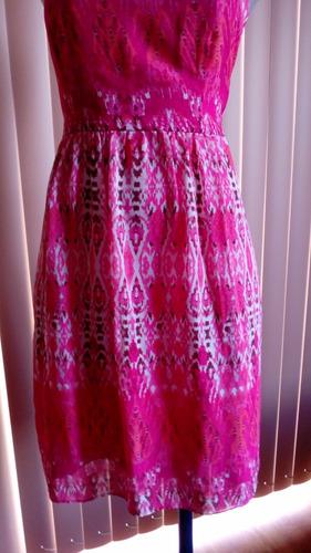 remate vestido de coctel rosa. talla chica