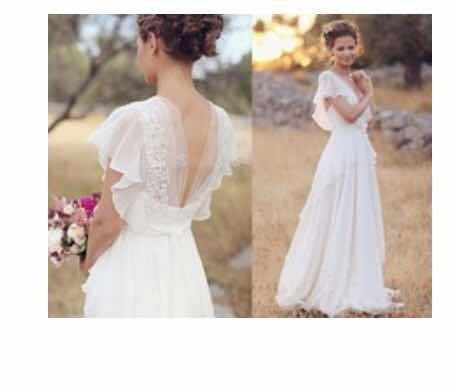 remate vestido de novia hippie ligero economico boda civil