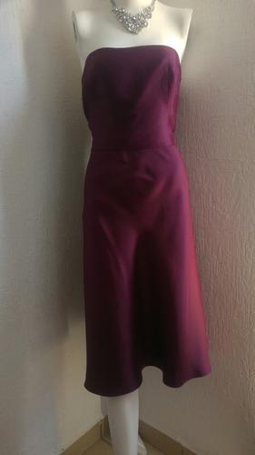 remate vestido guinda strapless talla g
