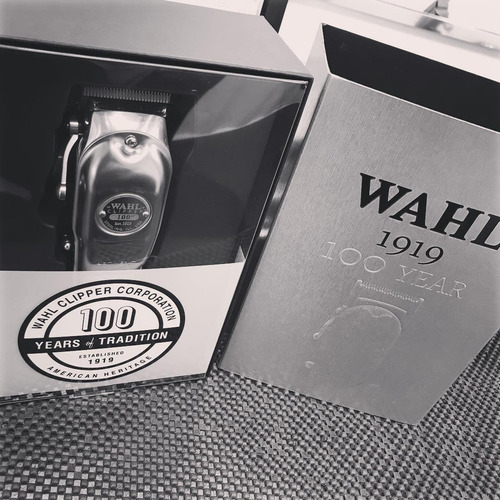 remate wahl clipper 100 aniversario 1919 metalica recargable