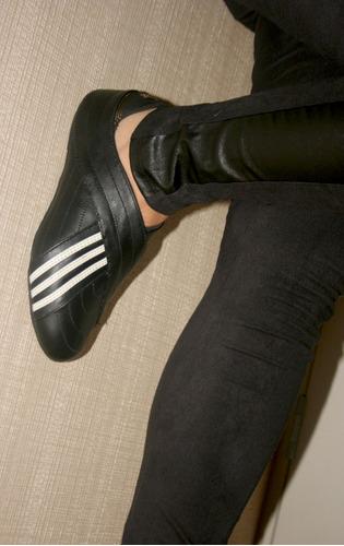 remate zapatillas balerina adidas original cuero talla 37 38