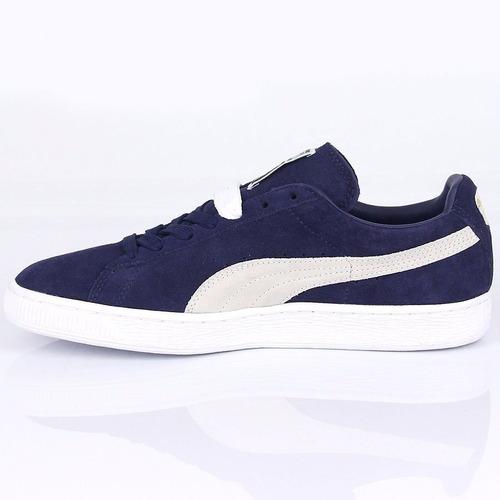 remate zapatillas puma suede classic azul de gamuza ndph
