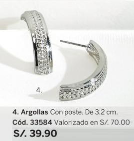6a82aaf1c137 Aretes Argollas Grandes - Joyas en Mercado Libre Perú