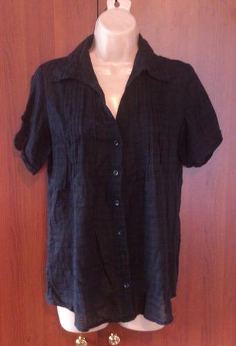 remato blusa negra americana