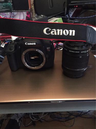 remato cámara canon t5i con tripié, memoria y maleta