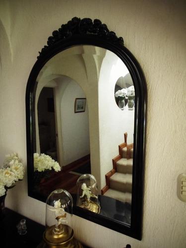 remato espejo + consola antigua color negro
