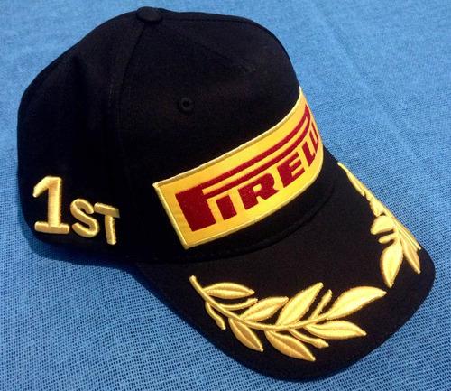 remato gorra pirelli f1 original podium de ganadores