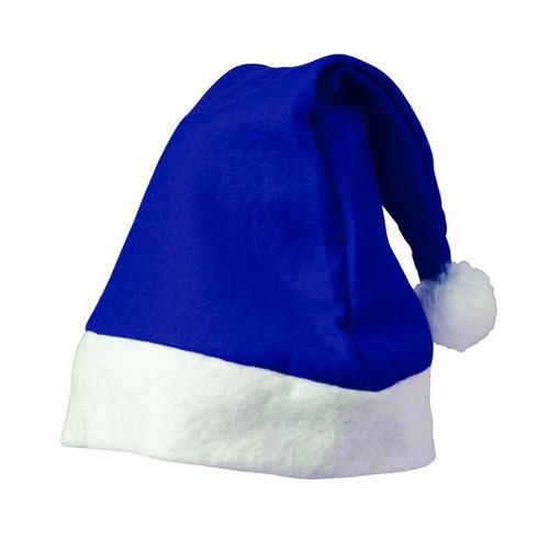 remato gorro chico con cascabel navidad para niños en azul