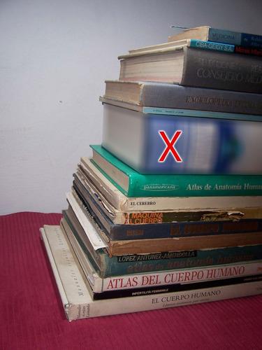 remato lote de 15 libros de medicina y anatomía humana