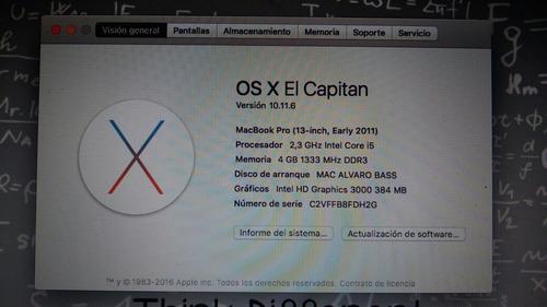 remato... macbook pro i5 con ssd.