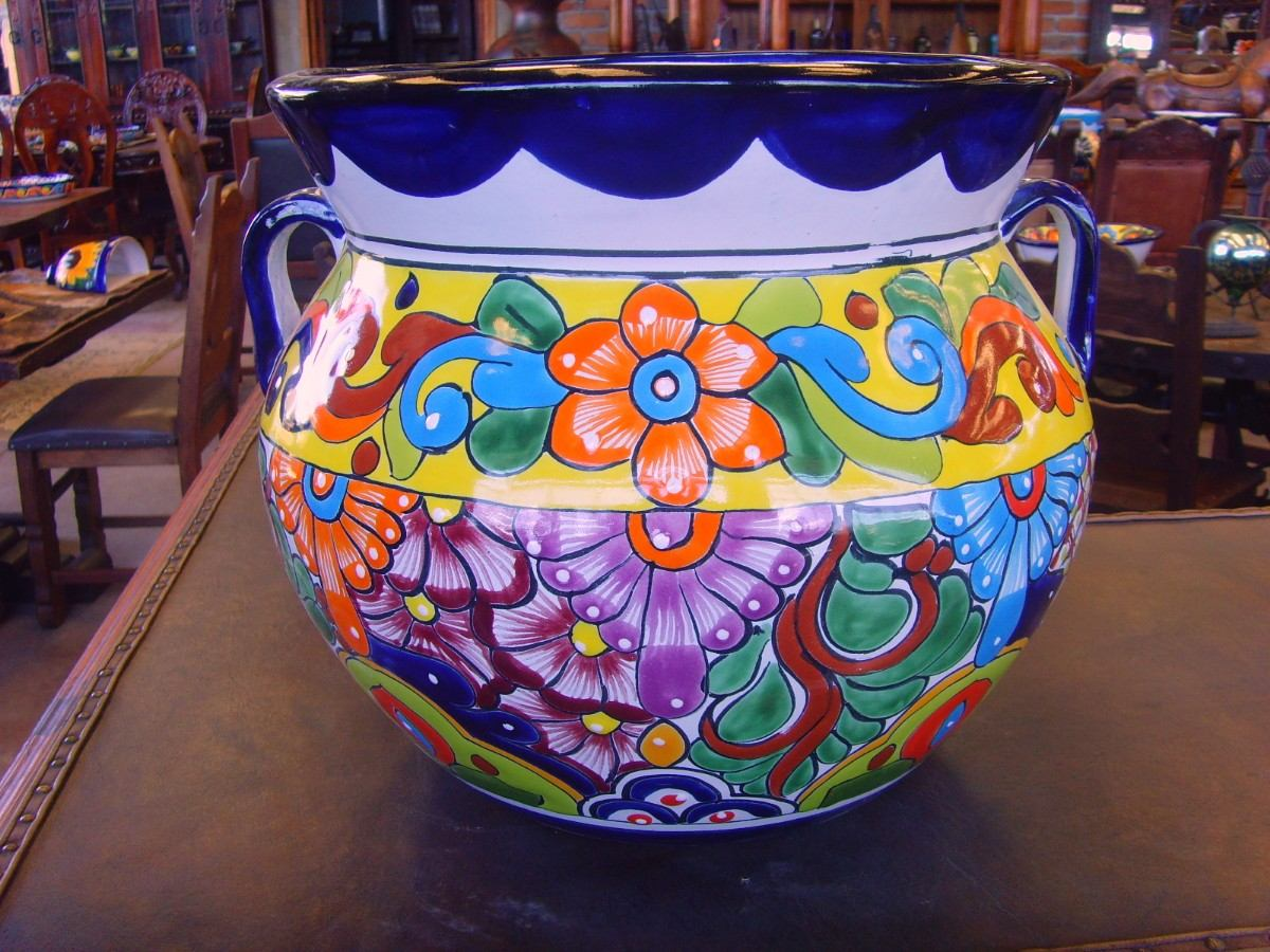 Remato maceta maceton grande de talavera gruesa la mejor for Donde venden ceramica barata