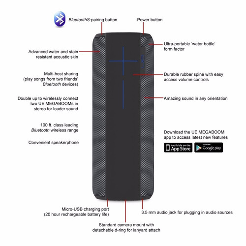 remato parlante bluetooth logitech ue megaboom 360º surround