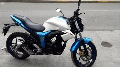 remato suzuki gixxer cc155 blanco con azul - negociable